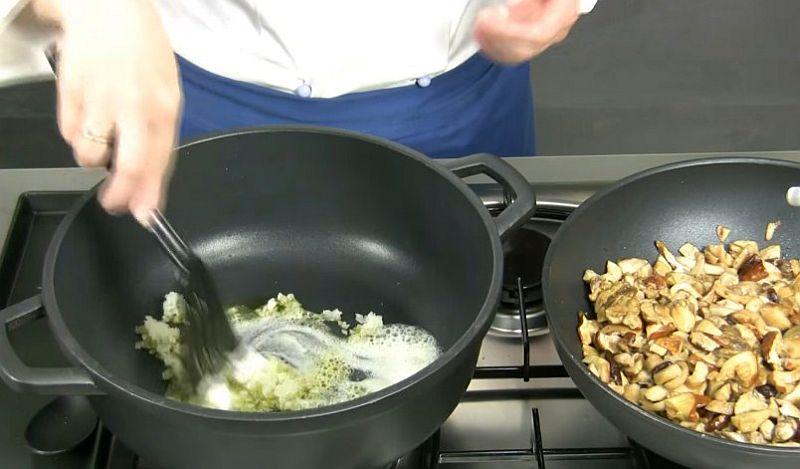 Способ приготовления ризотто с грибами